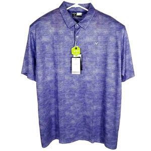 NWT Callaway Opti-Dri Mens XXL Purple Golf Polo